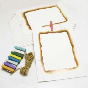Picture frames Set of materials, Paper, white, 18.5cm x 13cm, 9 sheets, [ZPQ0007]